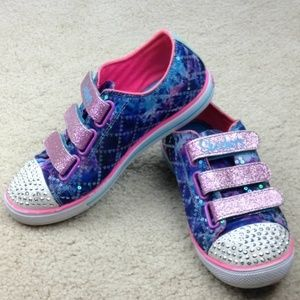 Skechers Twinkle Toes Light Up Girls Shoes Size 3